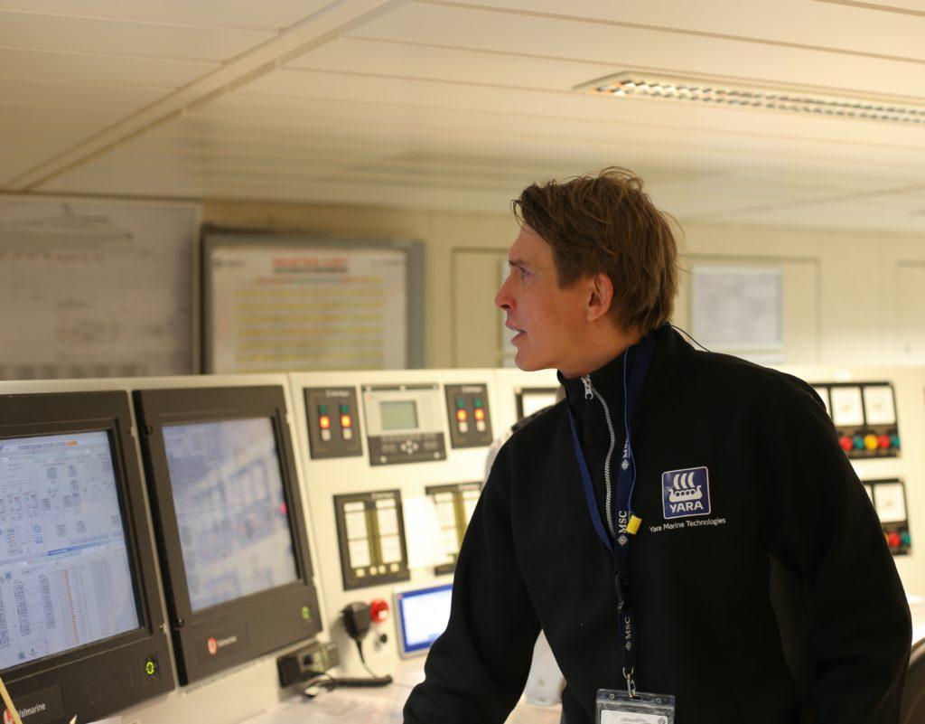 Yara man in control room