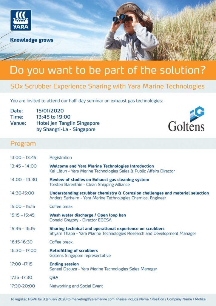 Yara Marine Singapore seminar program